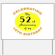 70th Birthday Anniversary Yard Sign