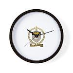 SOUCIER Family Crest Wall Clock