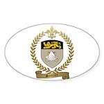 SOUCIER Family Crest Sticker (Oval 50 pk)