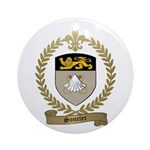 SOUCIER Family Crest Ornament (Round)