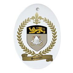 SOUCIER Family Crest Ornament (Oval)