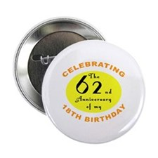"80th Birthday Anniversary 2.25"" Button"