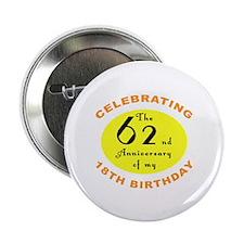 "80th Birthday Anniversary 2.25"" Button (100 pack)"