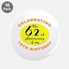 "80th Birthday Anniversary 3.5"" Button (10 pack)"