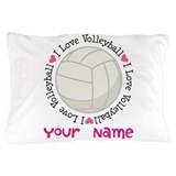 Personalized volleyball Pillow Cases