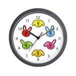 Bunnies Wall Clock