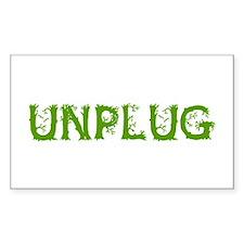 Unplug Decal