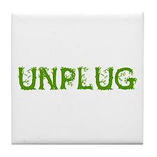 Unplug Tile Coaster