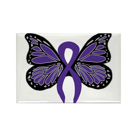 Relay For Life - Purple Ribbo Rectangle Magnet