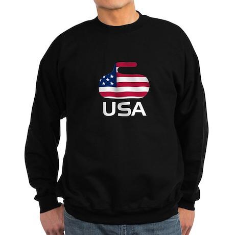 USA curling Sweatshirt (dark)