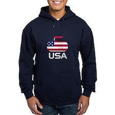 USA curling Hoodie