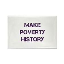 Make Poverty History Rectangle Magnet