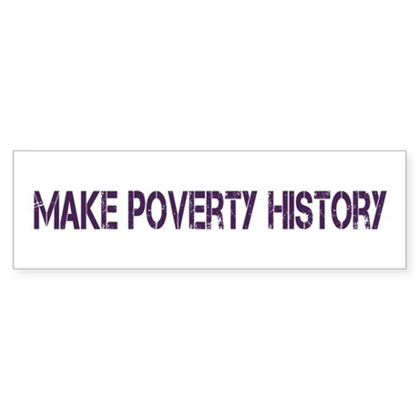 Make Poverty History Sticker (Bumper)