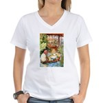 ALICE & THE OLD SHEEP Women's V-Neck T-Shirt