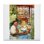 ALICE & THE OLD SHEEP Tile Coaster