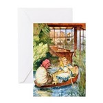 ALICE & THE OLD SHEEP Greeting Card