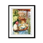 ALICE & THE OLD SHEEP Framed Panel Print