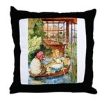 ALICE & THE OLD SHEEP Throw Pillow