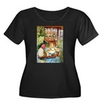 ALICE & THE OLD SHEEP Women's Plus Size Scoop Neck