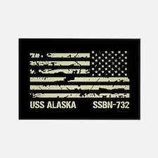 USS Alaska Rectangle Magnet