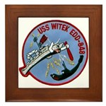 USS WITEK Framed Tile