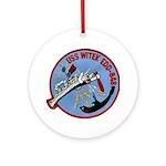 USS WITEK Ornament (Round)
