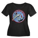 USS WITEK Women's Plus Size Scoop Neck Dark T-Shir