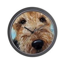 Unique Terrier art Wall Clock