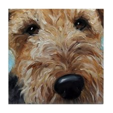 Funny Airedale terrier Tile Coaster