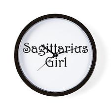 Zodiac: Sagittarius Girl Wall Clock