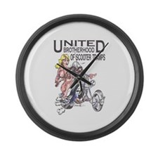 Scooter Tramps Large Wall Clock