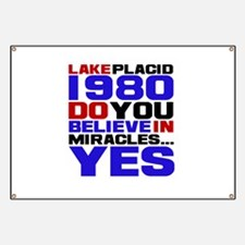 Miracle on Ice 1980 Banner