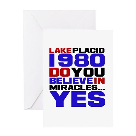 Miracle on Ice 1980 Greeting Card