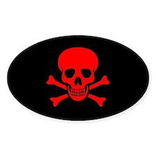 Skull & Crossbones (red) Decal