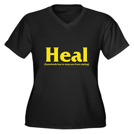 Heal - Somebody has to stop y Women's Plus Size V-