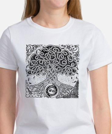 Celtic Tree of Life Ink Women's T-Shirt