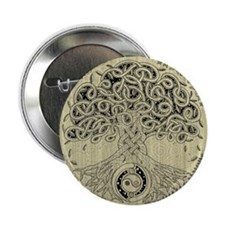 "Celtic Tree of Life Ink 2.25"" Button"
