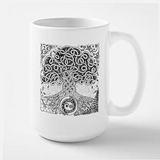 Celtic Tree of Life Ink Large Mug