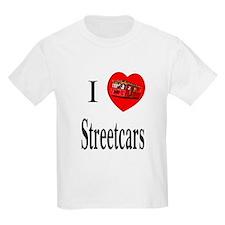 I Love Streetcars Kids T-Shirt
