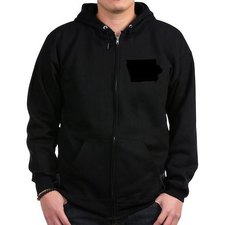 Iowa Zip Hoodie (dark)