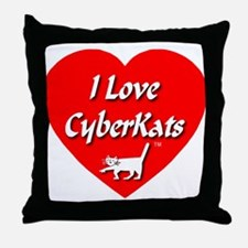 I Love CyberKats (TM) Throw Pillow