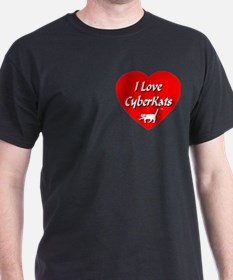 I Love CyberKats (TM) T-Shirt