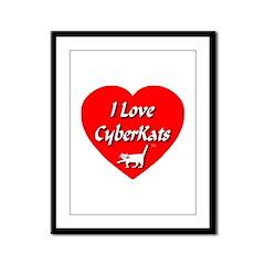 I Love CyberKats (TM) Framed Panel Print