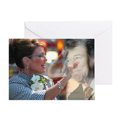 Carrying Reagan's Torch Greeting Card