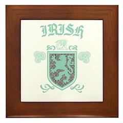 Irish Medieval Framed Tile