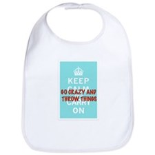 Cute Keep calm and carry on vintage Bib