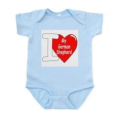 I Love My German Shepherd Infant Creeper