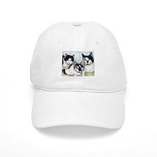 Cool Black white tux cat Baseball Cap