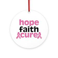 Hope Faith Cure Ornament (Round)