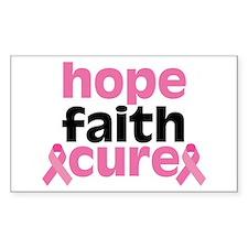 Hope Faith Cure Decal